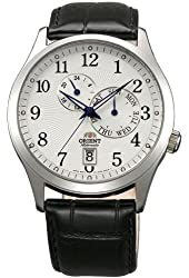 Orient ET0K003W Men's Cosmos White Dial Black Leather Strap Automatic Watch