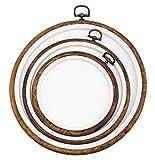 シンプルだから長く使える 飾れる 刺繍枠 3個セット (真円 大中小セット)