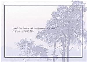 Herzlichen Dank für die erwiesene Anteilnahme in dieser schweren Zeit. - Trauer Dankeskarte Trauerkarte Beileidskarte Kondolenzkarte Beileid Grußkarte mit Landschaft • auch zum direkt Versenden mit ihrem persönlichen Text als Einleger.