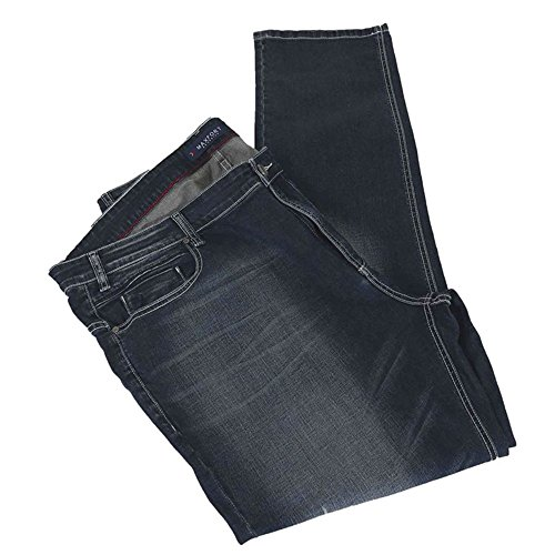 Pantalone jeans taglie forti uomo Maxfort CUNZAD sabbiato stretch - Blu scuro, 70 GIROVITA 140 CM