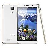 5.5'' 3G Smartphone Octa Core Dual SIM TIMMY M7, Android 4.4 MTK6592 Dual Camera OTG Smart Wake Telefono, Bianco