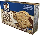 Quaker Soft Baked Oatmeal Cookie, Chocolate Almond, 8.8-Ounce (Pack of 6)