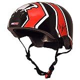 Kiddimoto - Accesorio para bicicleta Héroes Bambi (Helmet 93_black-rot-weiß-5-12+ years)