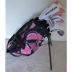 Left Handed Girls Junior Golf Club Set with Stand Bag for Kids Ages 3-6 Pink Color LH... by PG Golf Equipment