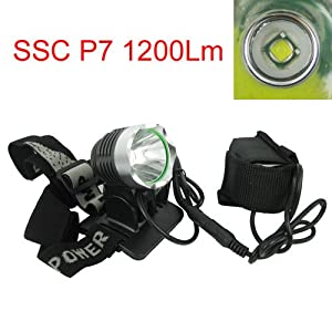 Amazon.com: Waterproof Ssc P7 1200 Lumen Led Light Outdoor Bicycle Bike Light And Headlamp With 3 Models: Sports & Outdoors