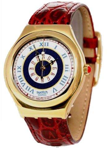 Swatch Swiss Irony Gold Tone Mens Watch - YCS78WBG