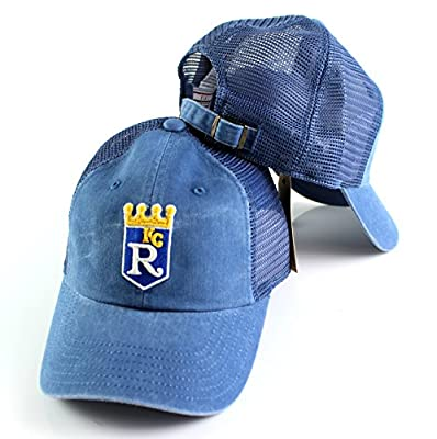 Kansas City Royals MLB Raglan Bones Soft Mesh Back Slouch Twill Cap
