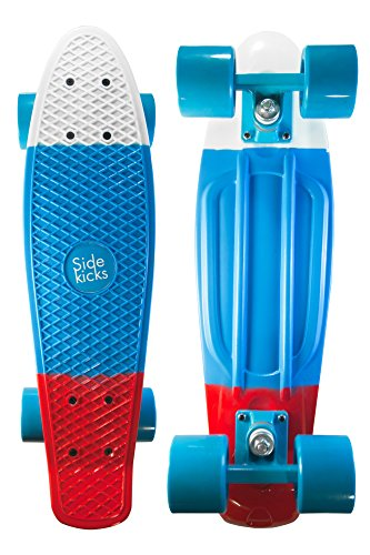 Sale!! Sidekicks® Complete 22 inch Mini Cruiser Retro Skateboard | SAFETY TESTED | Lifetime 100% Sa...