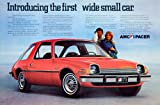 1975 Ad AMC Pacer D/L 2Door Hatchback Coupe Compact First Wide Small Car Classic - Original Print Ad