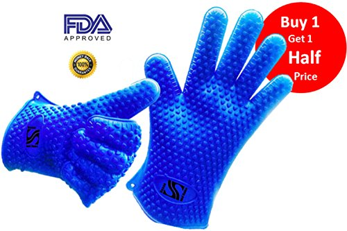 ★ Buy 1 Get 1 Half Price Holiday Special ★Use As Heat Resistant Cooking Gloves, Grilling Gloves, Oven Mitt, Or Potholder. ★ Free Bonus Recipe E-Book. ★Use As Grilling Gloves Or Oven Gloves! ★Withstand Extreme Heat Up To 420 Degrees F. ★1 Pair. ★100% Money front-605417
