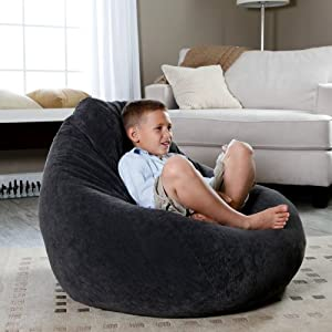 Fashion Large Corduroy Teardrop Bean Bag Chair from Hudson Industries Inc