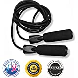 #1 Rated Jump Rope for Cardio Fitness Training :: $1 From Every Purchase is Donated to Cancer Research :: FREE Fitness Ebook Included :: Premium Quality :: Great Boxing, WOD and CrossFit Speed Workout :: Top Rated Exercise for Weight-Loss and Heart Health :: The King Athletic Jump Rope is Suited for Both Adults and Kids :: This Jumping Rope is Made from Durable Materials :: Protect Your Investment :: Skip Rope Comes With a 30-Day Money Back Guarantee and 5-Year Product Satisfaction Warranty