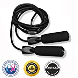 #1 Recommended Jump Rope for Cardio Training :: $1 From Every Purchase is Donated to Cancer Research :: FREE Workout Ebook Included :: Premium Quality :: Top Rated Boxing and CrossFit Speed Rope :: Protect Your Investment Skip Rope Comes With a 100% Money Back Guarantee and Lifetime Product Satisfaction Warranty