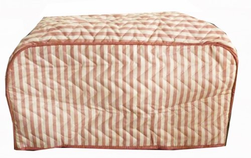 Pink Stripes Toaster Cover (Toast Oven Cover compare prices)