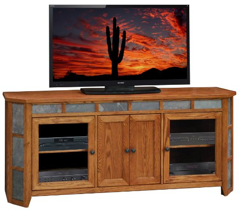 Legends Oak Creek 72 in. Angled TV Console - Golden Oak