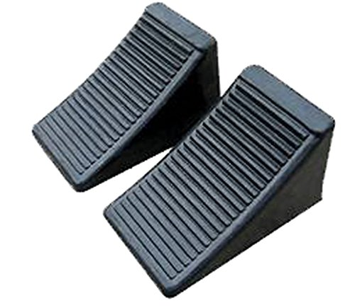 Fasmov Solid Rubber Heavy Duty Wheel Chock -2 Pack (Camper Wheel Chocks compare prices)