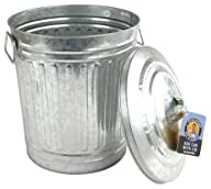 Steven Raichlen Best of Barbecue Galvanized Charcoal and Ash Can with Lid — SR8012