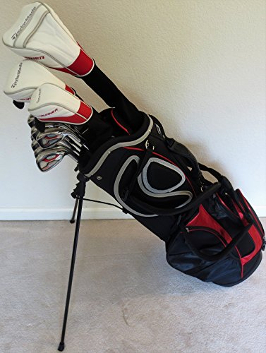 Mens TaylorMade Golf Set Driver, Fairway Wood, Hybrid, Irons, Putter, Stand Bag Taylor Made Clubs Regular Flex (Taylor Made Driver Set compare prices)