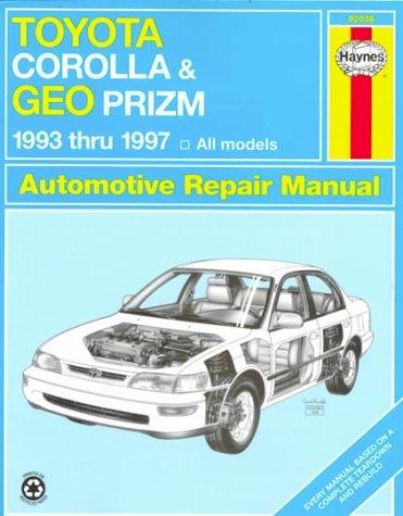 Toyota Corolla and Geo Prizm Automotive Repair Manual