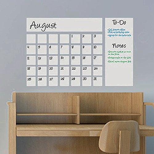 BATTOO Vinyl Chalkboard Calendar Removable Calendar Wall Decal(37