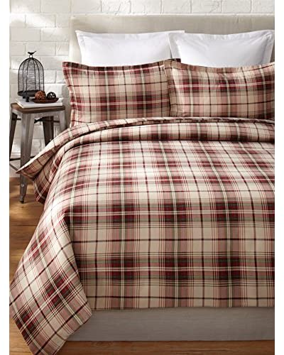Eddie Bauer Montlake Plaid Flannel Duvet Set