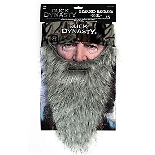 Duck Dynasty - Phil - Bearded Bandana Gray - Faux Fur