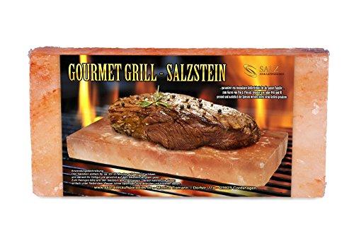 Gourmet Grill Salzstein 20 x 10 x 5 cm von Salz Einkaufsparadies Größe L (1 x 2200 g)