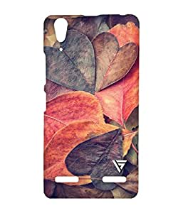 Vogueshell Leaf Pattern Printed Symmetry PRO Series Hard Back Case for Lenovo A6000