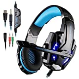 Kotion Each G9000 Headset 3.5Mm Game Gaming Headphone Earphone With Microphone LED Light For Laptop Tablet Mobile...