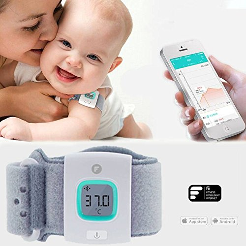 philmat-fii-ifever-bluetooth-intelligent-thermometer-baby-wearable-infrared-smart-monitor-body-tempe