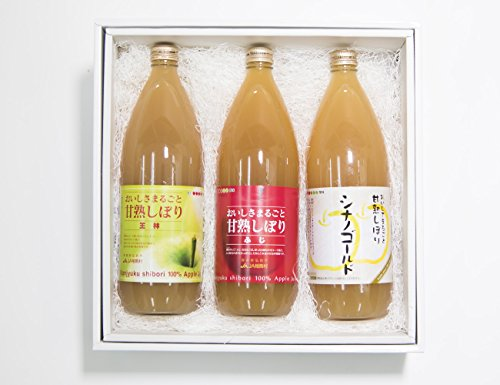 フルーツなかやま りんごジュース3本セット 青森県弘前市相馬 100%ストレート ふじ・シナノゴールド・王林 添加物不使用