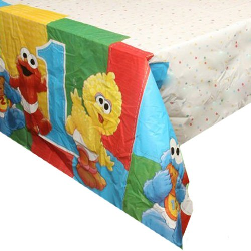 Sesame Street 1st Birthday 54in x 96in Plastic Tablecover