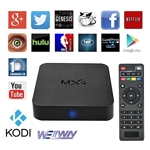 MXQ TV BOX Android 4.4 Amlogic S805 Quad Core 1G/8GB Kodi (15.2) Fully Loaded Wifi, 1080P, 4k Streaming Media Player (Tv Adapter Box compare prices)