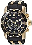 Invicta Men's 6981 Pro Diver Analog Swiss Chronograph Black Polyurethane Watch