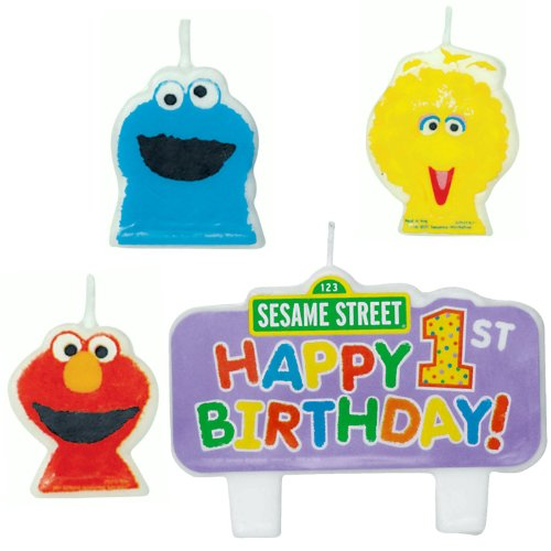 Sesame Street 1st Birthday - Molded Candle Set (4) - 1