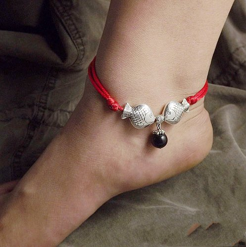 Tibetan Silver Sterling Silver Bangle Anklet Chain Bracelet Jewellery Quality Style NO.10411