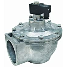 "Dwyer Series DCV Diaphragm Valve, 2-1/2"" NPT Connection, Integrated Coil, Cv Factor of 136 GPM"