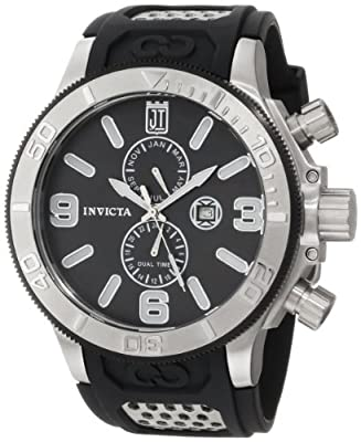 Jason Taylor for Invicta Collection 13687 Black Mother-Of-Pearl Dial Black Polyurethane Watch by Invicta