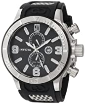 Jason Taylor for Invicta Collection 13687 Black Mother-Of-Pearl Dial Black Polyurethane Watch