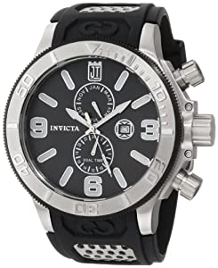 Jason Taylor for Invicta Collection 13687 Black Mother-Of-Pearl Dial Black Po...