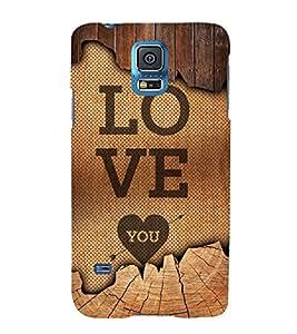 Love You 3D Hard Polycarbonate Designer Back Case Cover for Samsung Galaxy S5 Mini :: Samsung Galaxy S5 Mini G800F