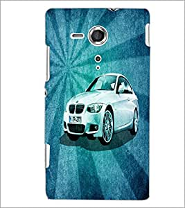 PrintDhaba Car D-4401 Back Case Cover for SONY XPERIA SP (Multi-Coloured)
