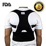 Everyday Medical Back Lumbar Support Brace, Shoulder Brace Posture Corrector For Women, Men, Senior and the Elderly, Fully Adjustable To Improves Slouching, Back Pain & Thoracic Kyphosis