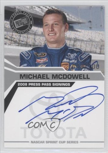 Michael Mcdowell (Trading Card) 2008 Press Pass Press Pass Signings Silver #N/A front-656952