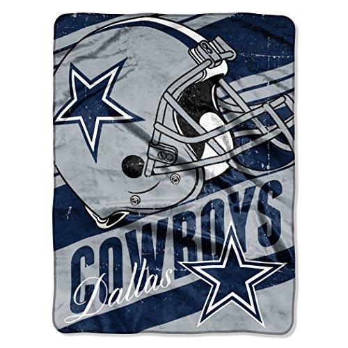 "Nfl Dallas Cowboys ""Deep Slant"" Micro-Raschel Throw, Blue, 46 X 60-Inch front-864301"