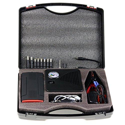 ZXK-2-in-1-Set-13800mAh-Car-Jump-Starter-und-Automatische-Luftpumpe-Auto-Starthilfe-400A-Spitzenstrom-16000mAh-Batterie-Ladegert-Tragbare-USB-Ladegert-Externer-Akku-Power-Bank-mit-LED-Taschenlampe-fr-