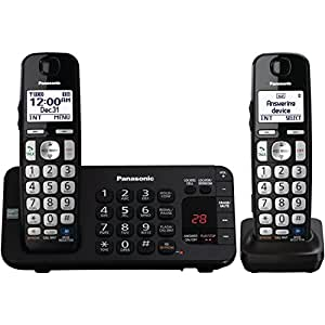 Panasonic KX-TGE242B DECT 6.0 Expandable Digital Cordless