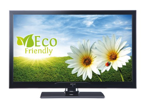 Akai AL2408TBK 61 cm (24 Zoll) LED-Backlight-Fernseher, EEK A (HD-Ready, DVB-T/-C, USB 2.0) matt-schwarz
