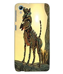 Fuson 3D Printed Fantasy Fox Designer Back Case Cover for HTC Desire 826 - D1058