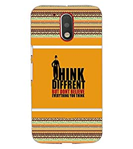 MOTOROLA MOTO G4 PLUSTHINK DIFFERENT Back Cover by PRINTSWAG